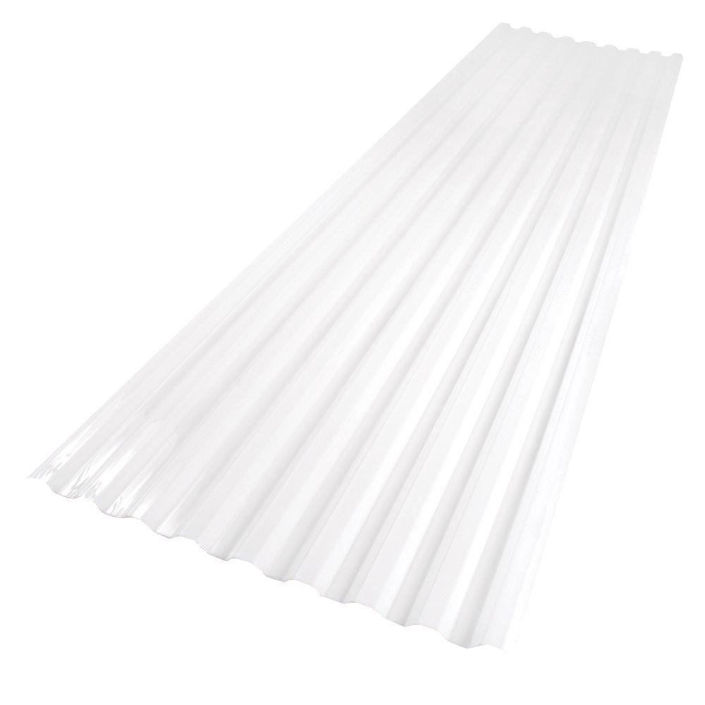 Polycarbonate Corrugated Roof Panel In White 101890   The Home Depot