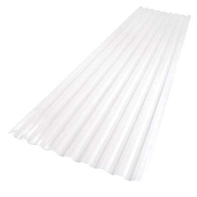 26 in. x 8 ft. Polycarbonate Corrugated Roof Panel in White