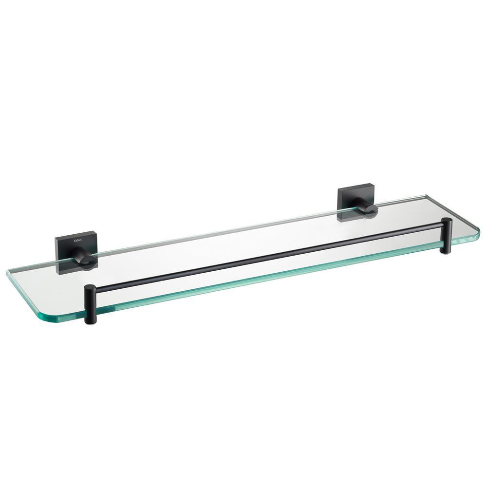 Ventus Bathroom Shelf in Matte Black