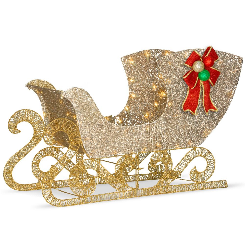 National Tree Company 38 in. Santas Sleigh with LED Lights ...