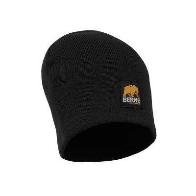 Men's Black Thinsulate Lined Knit Cuff Cap