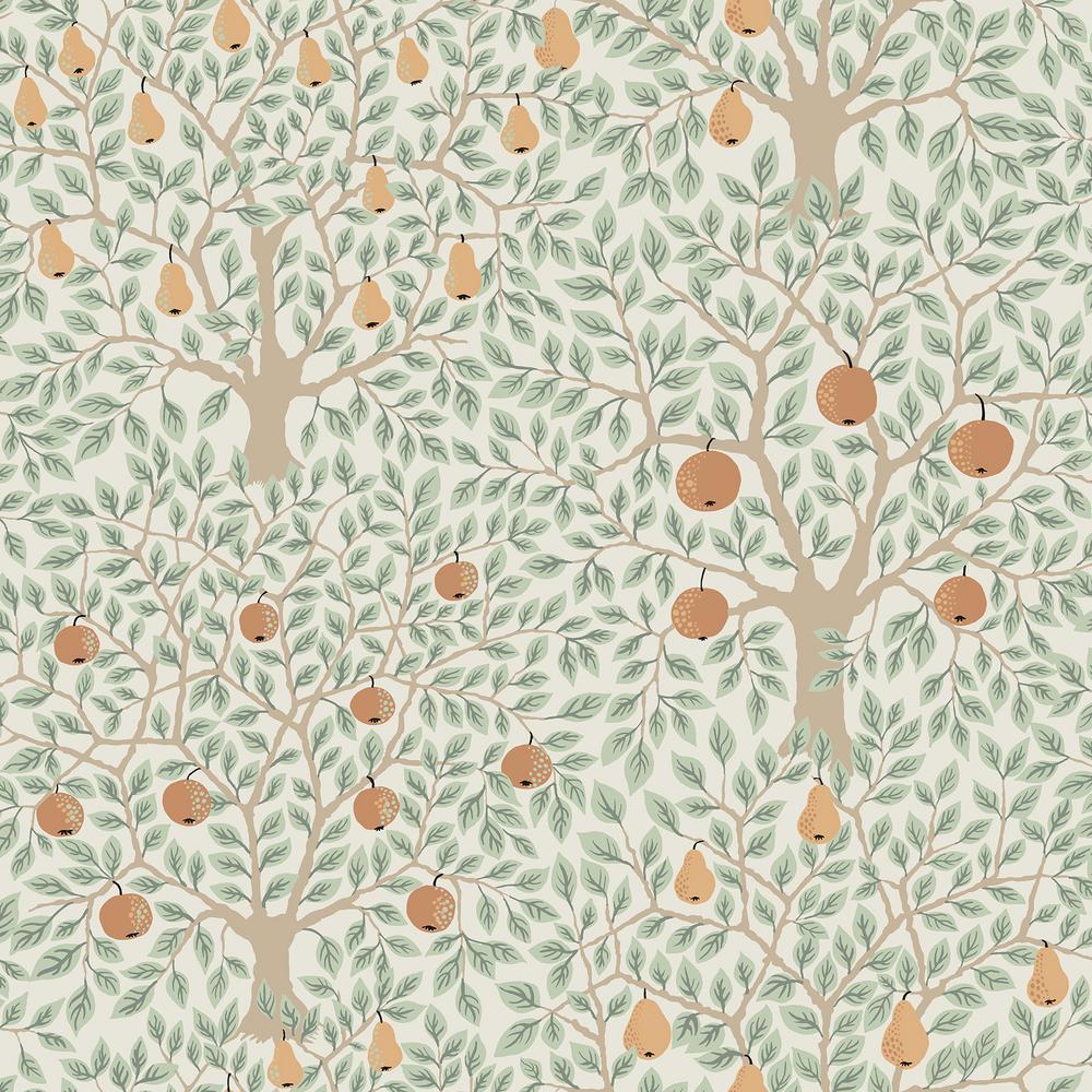 A-Street Pomona Multicolor Fruit Tree Wallpaper