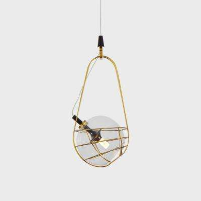 Firenze 15-Watt Integrated LED Antique Brass Pendant