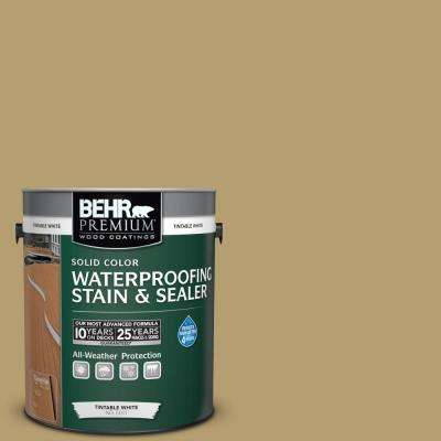 1 gal. #SC-145 Desert Sand Solid Color Waterproofing Exterior Wood Stain and Sealer