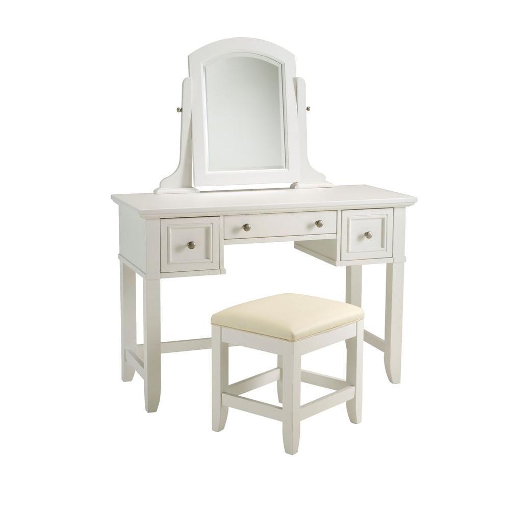 Naples  Piece White Vanity Set