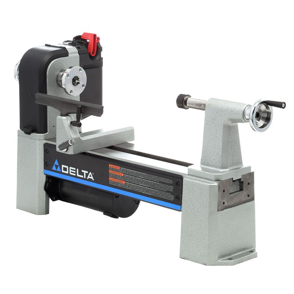 Delta 12 12 In Mini Wood Lathe With Variable Speed 46 460 The