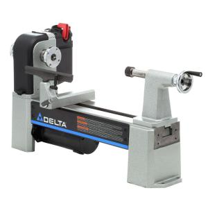 Delta 12 1 2 In Midi Lathe Variable Speed Wood Lathe 46 460 The Home Depot