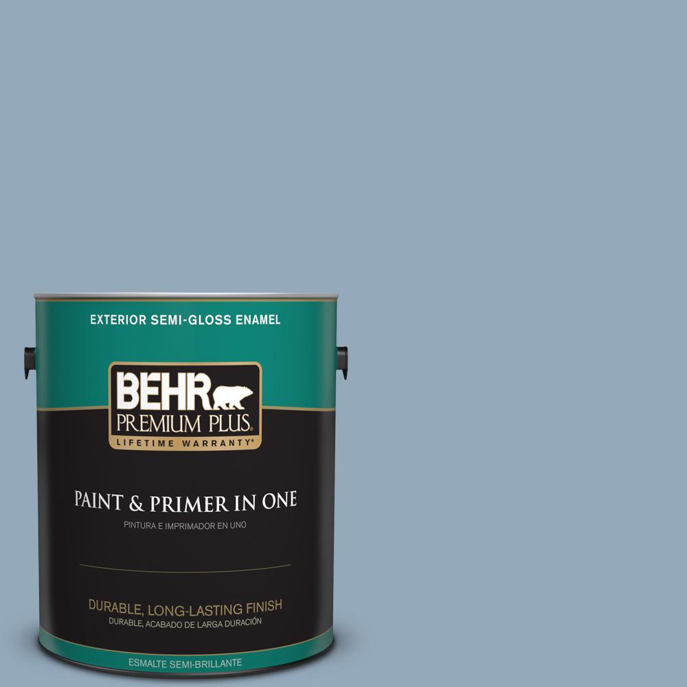1 gal. #PPU14-09 Windsurf Semi-Gloss Enamel Exterior Paint