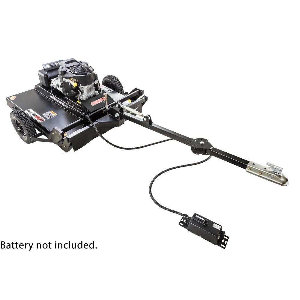 Commercial Pro 44 in. 14.5-HP 12-Volt Kawasaki Pull-Behind Rough-Cut Lawn Mower Trail Cutter