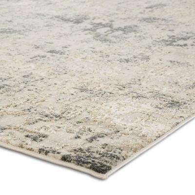 Cirque White 2 ft. 6 in. x 8 ft. Abstract Runner Rug