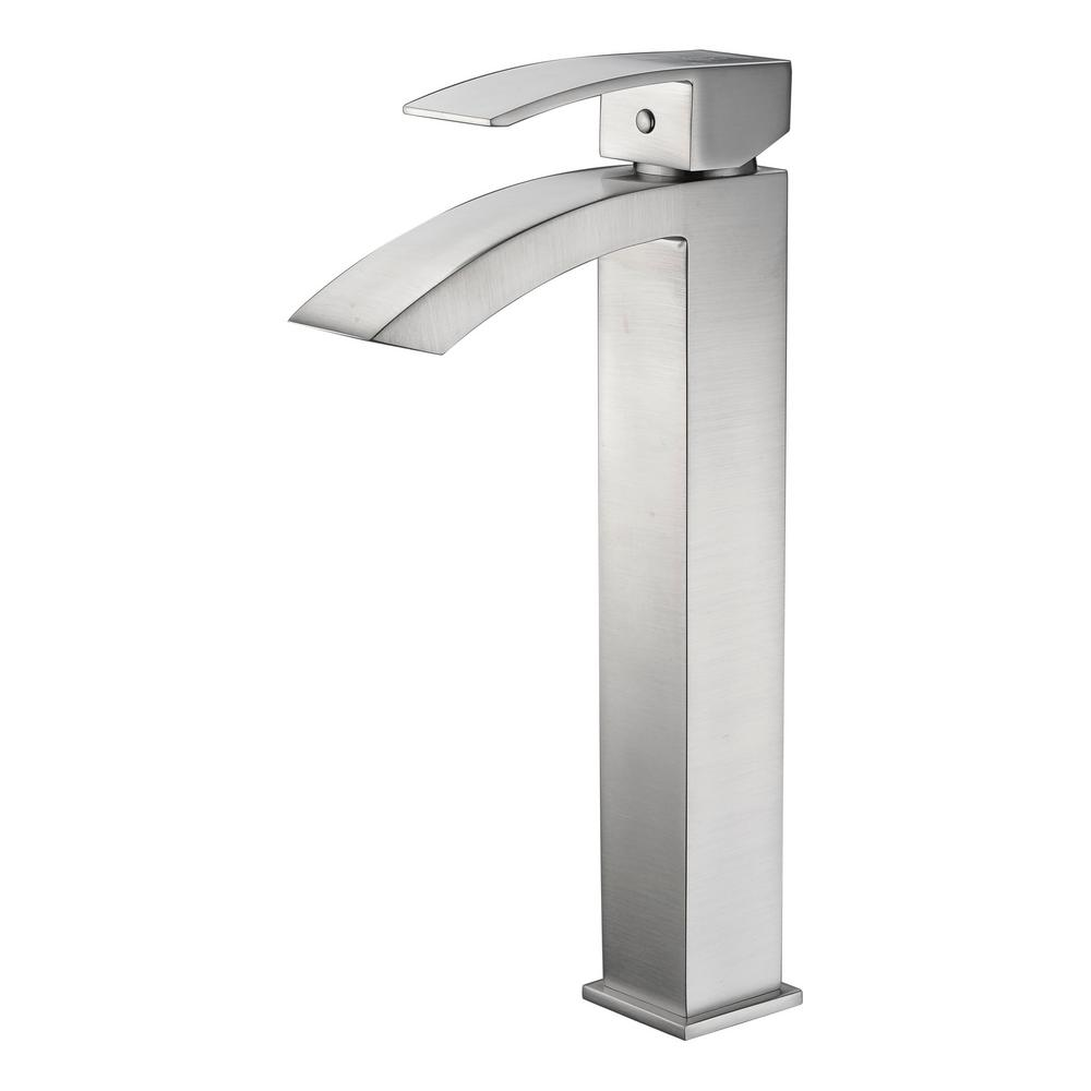 Tutti Single Hole Single-Handle Bathroom Faucet in Brushed Nickel