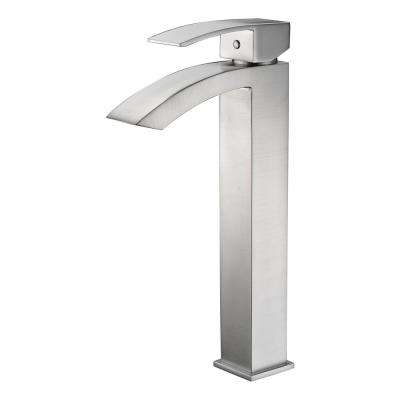 Tutti Single Hole Handle Bathroom Faucet In Brushed Nickel