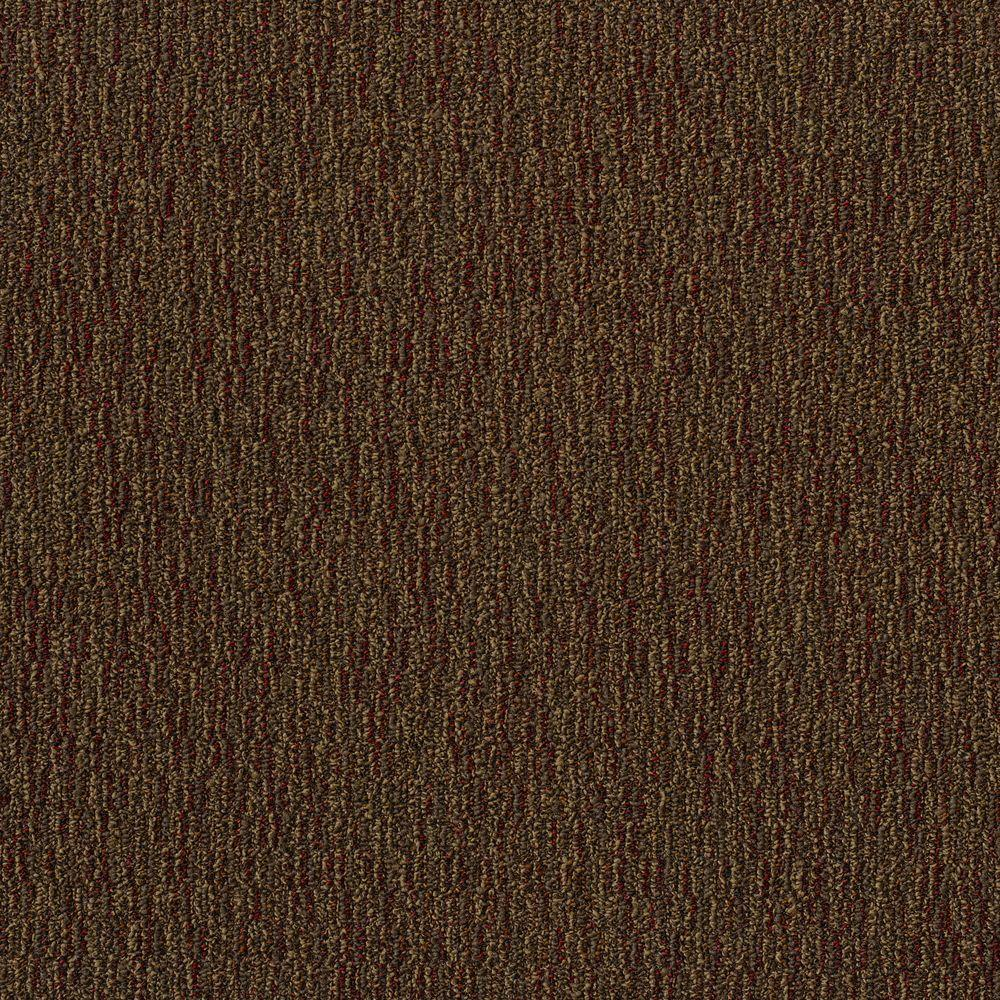 Fabricator Dark Brown Loop 24 in. x 24 in. Modular Carpet