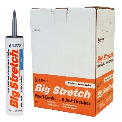 Big Stretch 10.5 oz. Gray High Performance Interior Exterior Caulk (12-Pack)