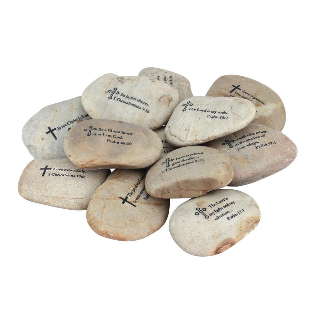 3 in. x 3 in. Scripture Rocks (Set of 12)