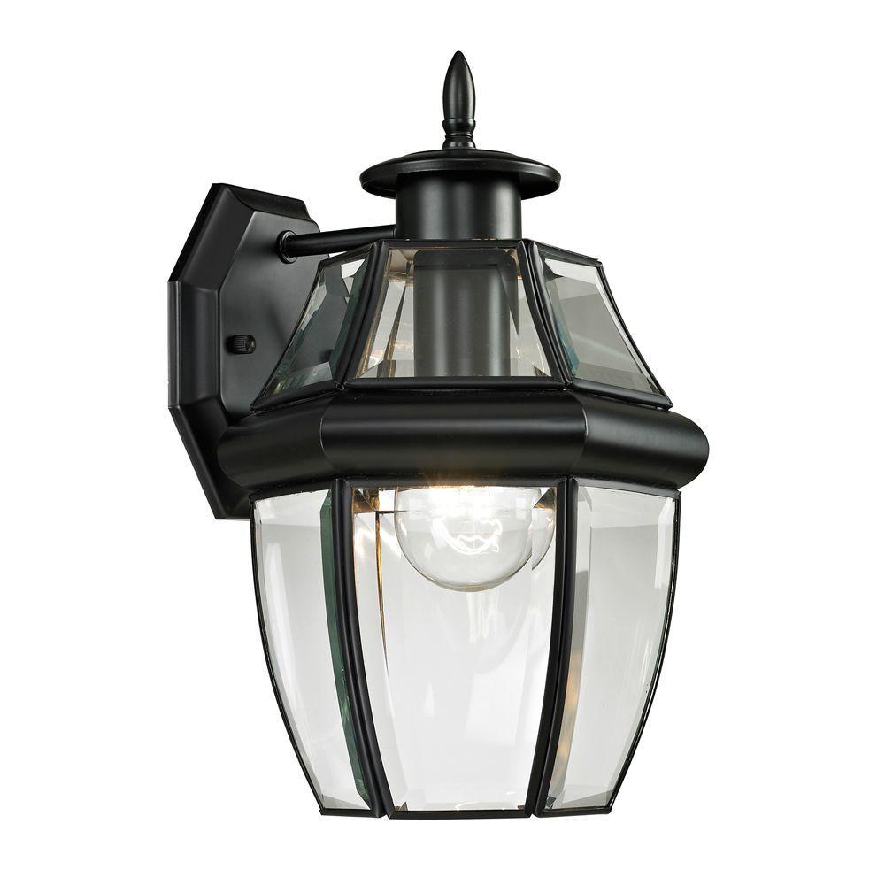 Ashford 1-Light Outdoor Black Sconce