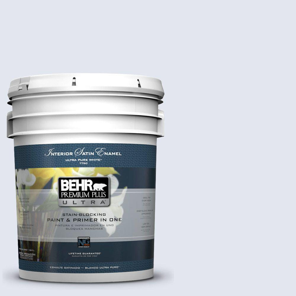 BEHR Premium Plus Ultra 5-gal. #620A-1 Graceful Satin Enamel Interior Paint