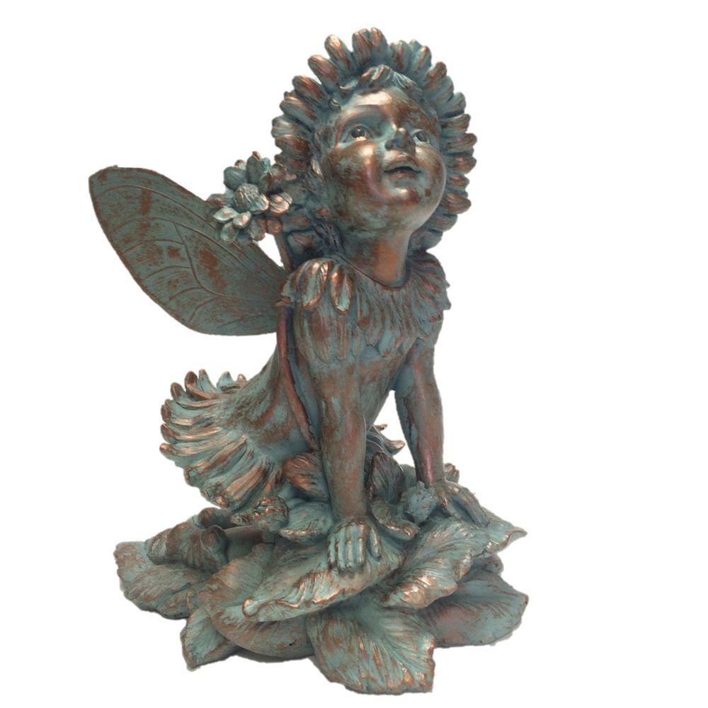 Charmant Suffolk Fairies 14 In. Fairy Penelope Bronze Patina Collectible Garden  Statue