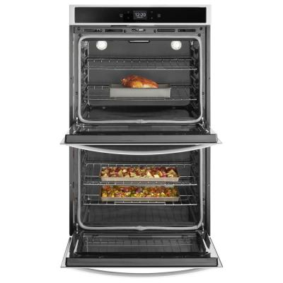 30 in. Smart Double Electric Wall Oven with Touchscreen in Stainless Steel