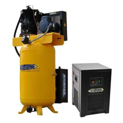Industrial PLUS 80 Gal. 5 HP 208-Volt 3-Phase 2-Stage Silent Air Electric Air Compressor with 30 CFM Dryer Bundle