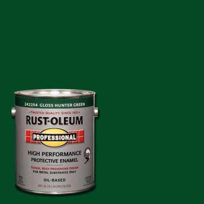 1 gal. High Performance Protective Enamel Gloss Hunter Green Oil-Based Interior/Exterior Metal Paint (2-Pack)