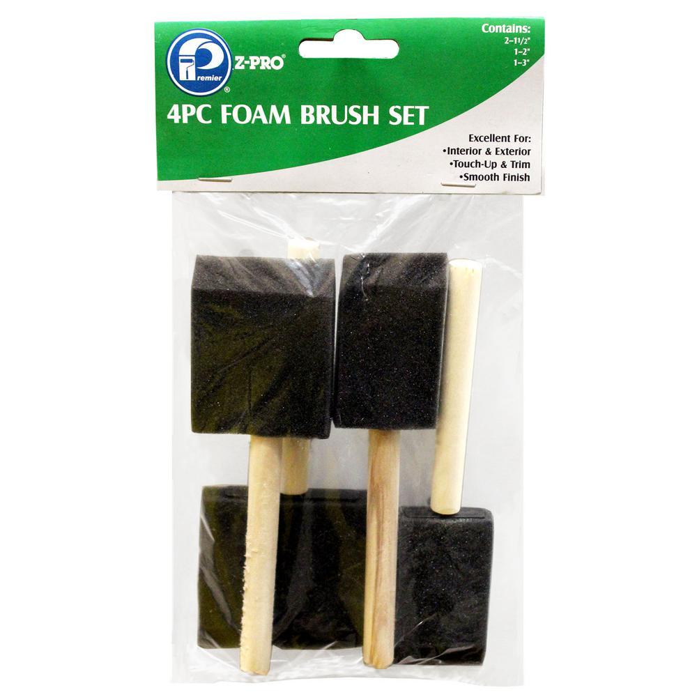4-Piece Foam Brush Set (6-Pack)