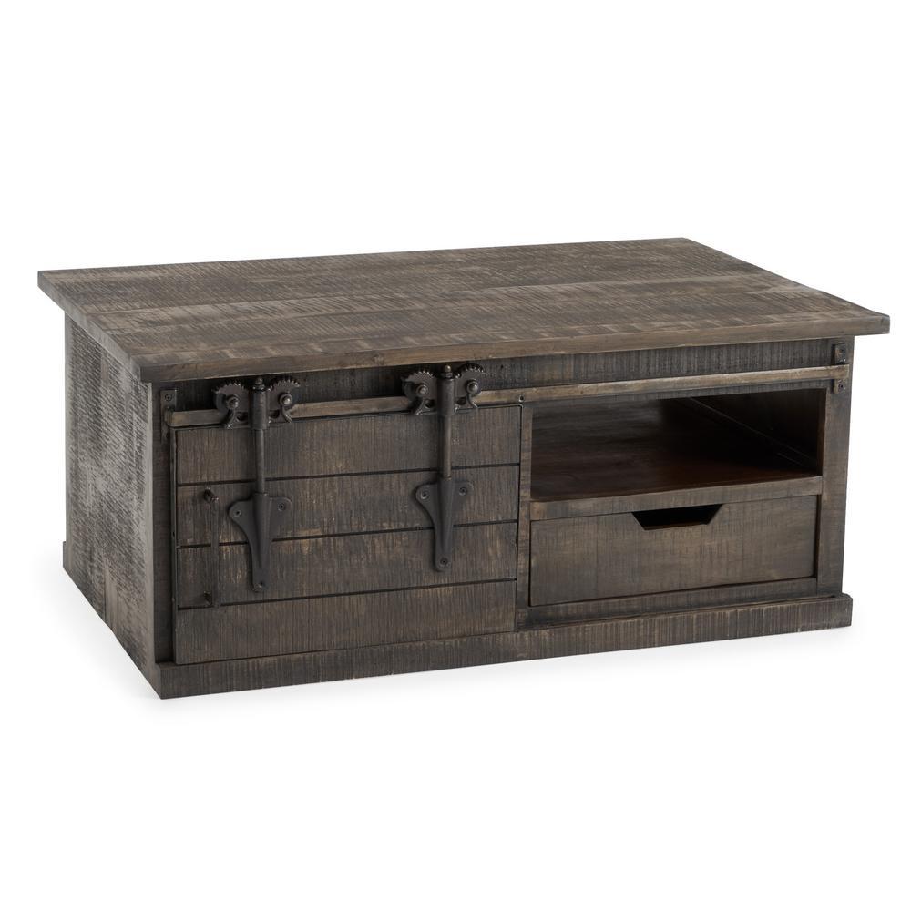 Wyatt Grey Barn Door Coffee Table
