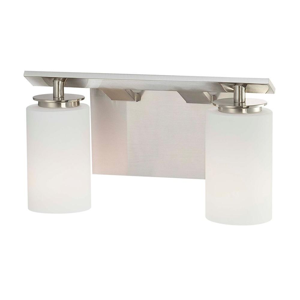 Minka Lavery Inoui Bath 2-Light Brushed Nickel Bath Light