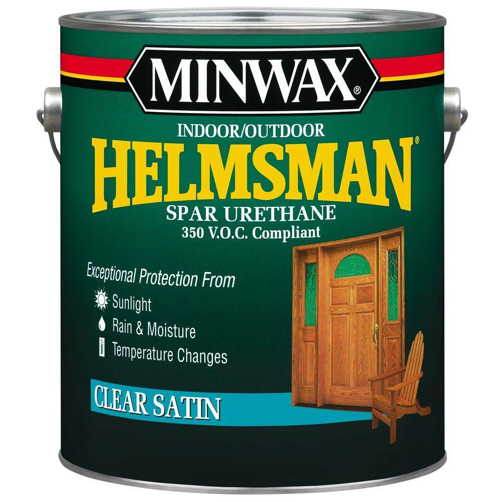 1 gal. Clear Satin Helmsman Indoor/Outdoor Spar Urethane (2-Pack)