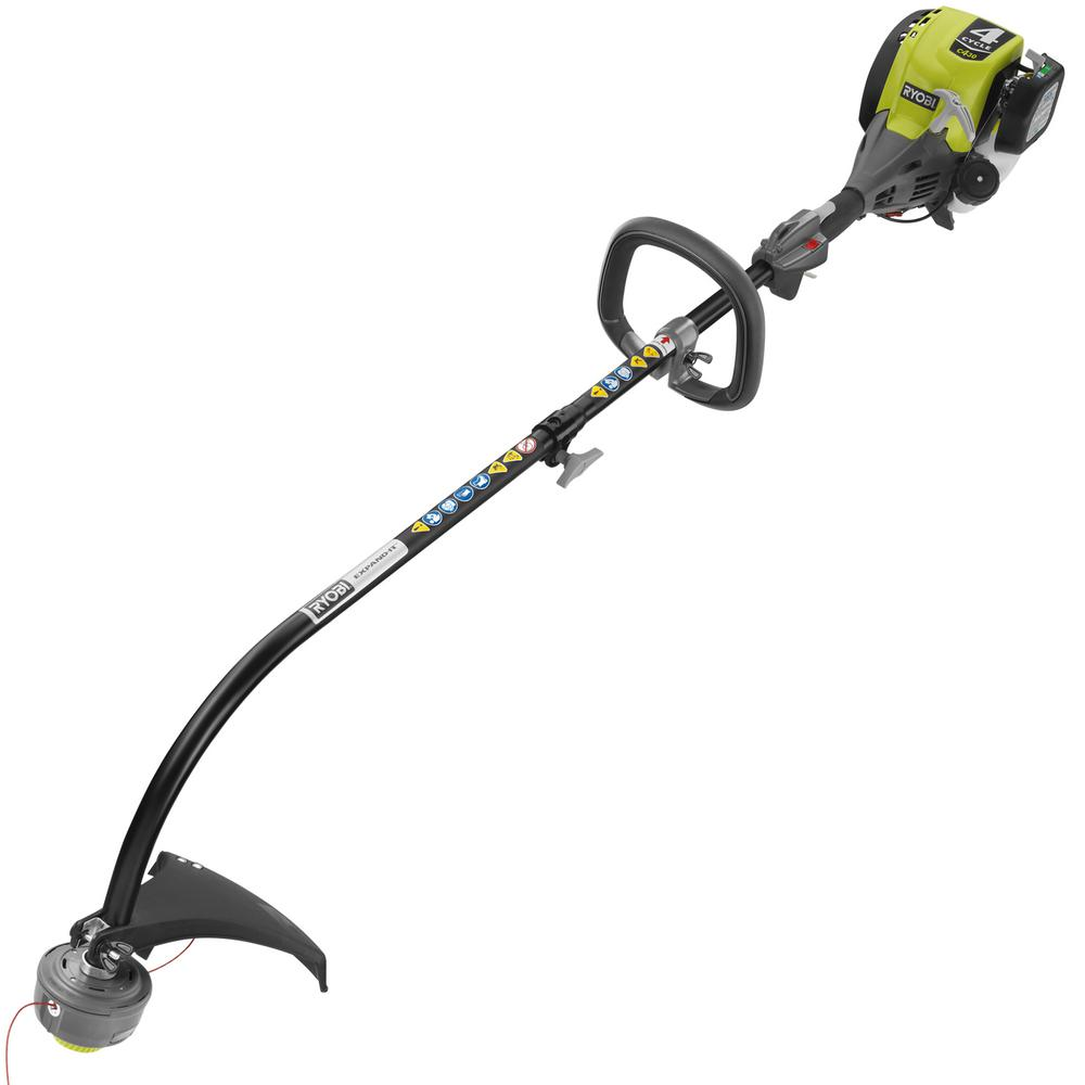 Ryobi 4-Cycle 30cc Attachment Capable Curved Shaft Gas Trimmer
