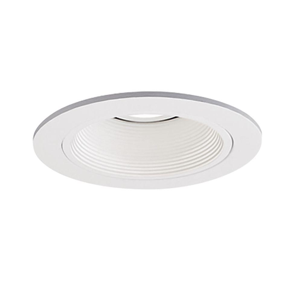 promo code 6f7d2 6ee57 Halo Low-Voltage 4 in. White Recessed Ceiling Light Trim with White Coilex  Baffle