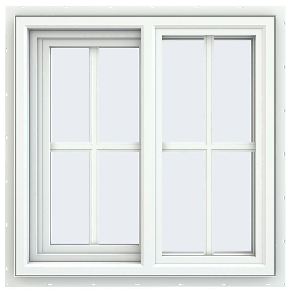 23.5 in. x 23.5 in. V-4500 Series Left-Hand Sliding Vinyl Windows