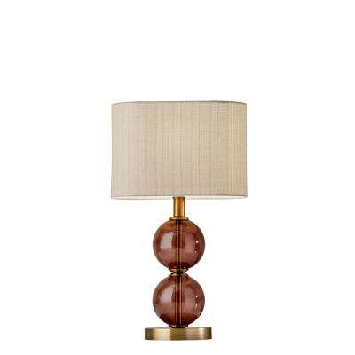 Donna 17.5 in. Brass Table Lamp