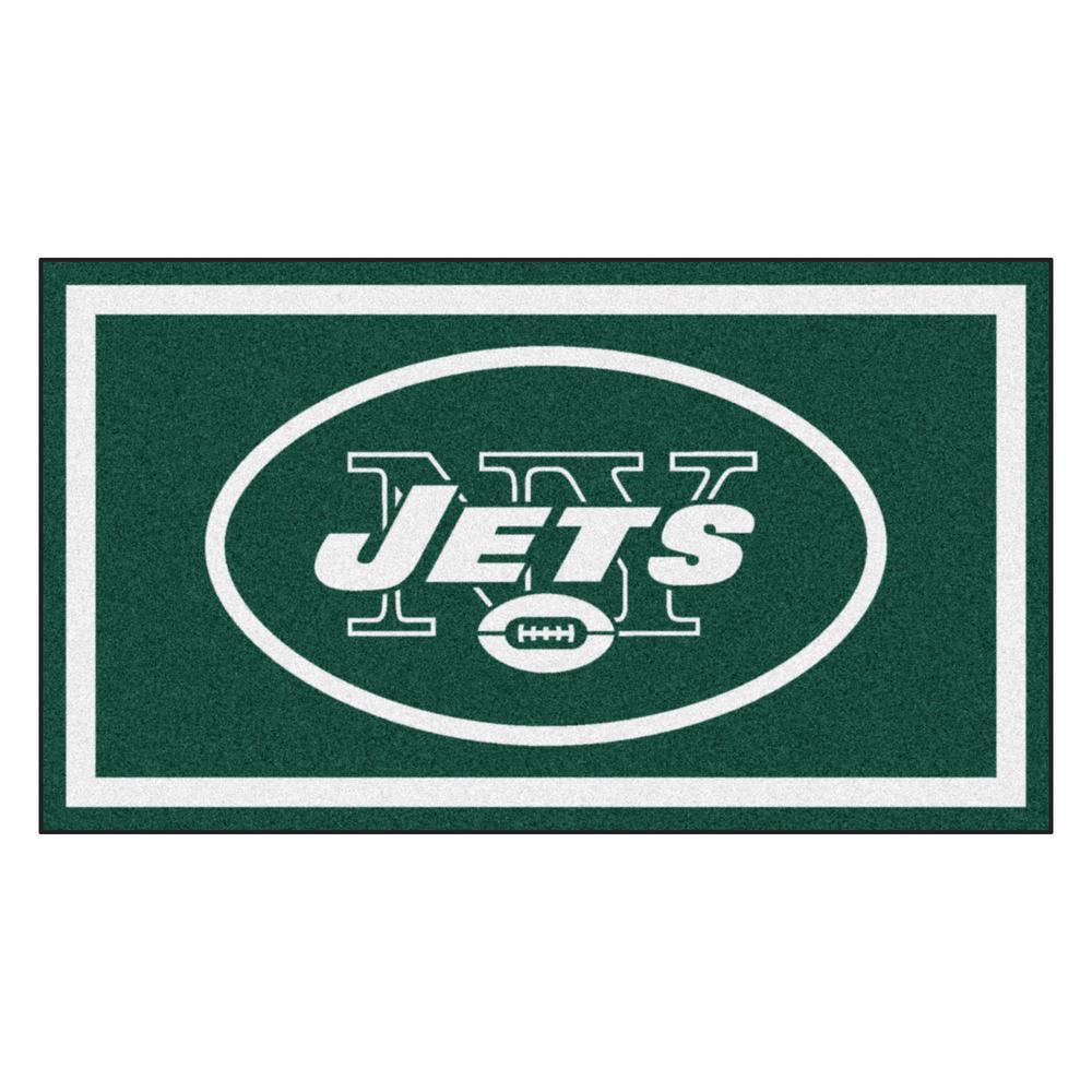 NFL - New York Jets 3 ft. x 5 ft. Ultra Plush Area Rug