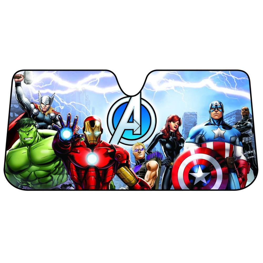 Plasticolor Marvel Avengers Accordion Windshield Sunshade-003695R01 ... b9703146e37