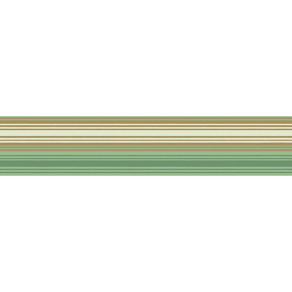 The Wallpaper Company 8 in. x 10 in. Mint Stripe Column Sample
