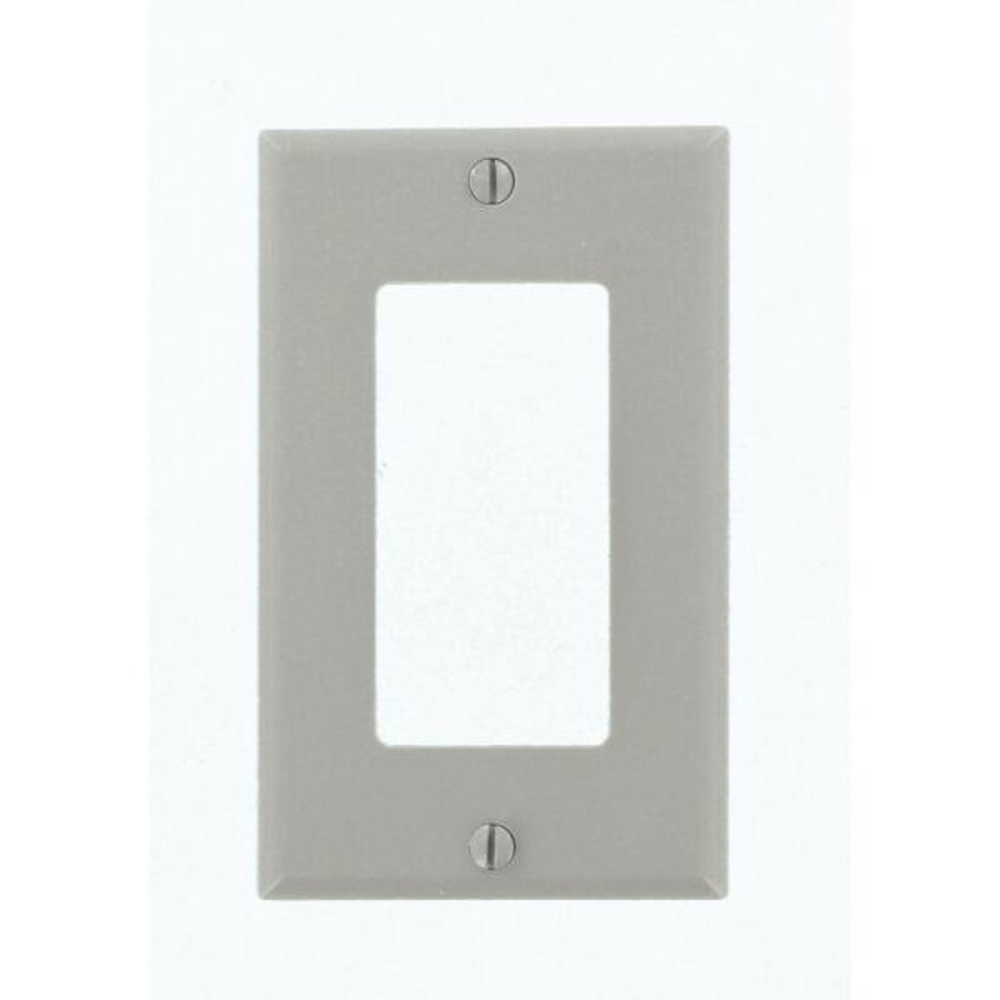 Gray 1-Gang Decorator/Rocker Wall Plate (1-Pack)
