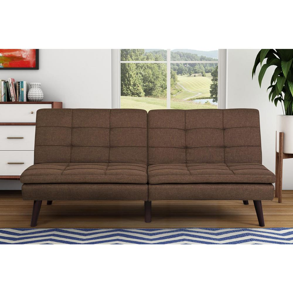 dhp premium westbury brown futon dhp premium westbury brown futon 2108229   the home depot  rh   homedepot