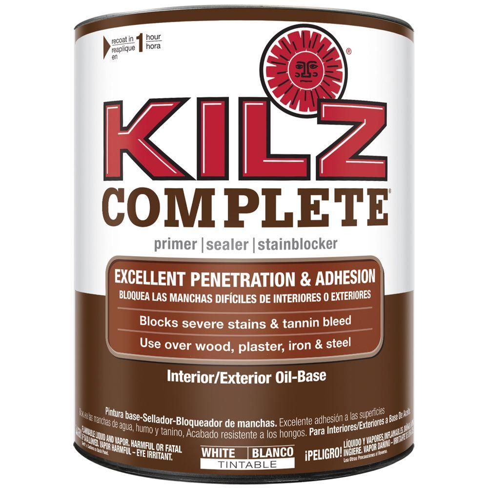 Kilz Complete 1 Gal White Oil Based Interior Exterior Primer