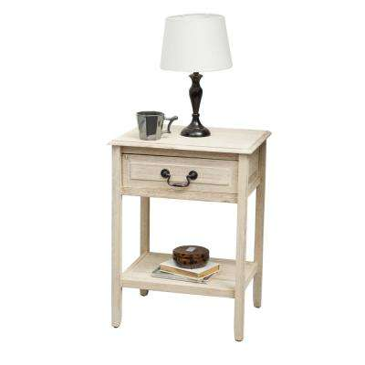 Banks Brushed Morning Mist Accent Table