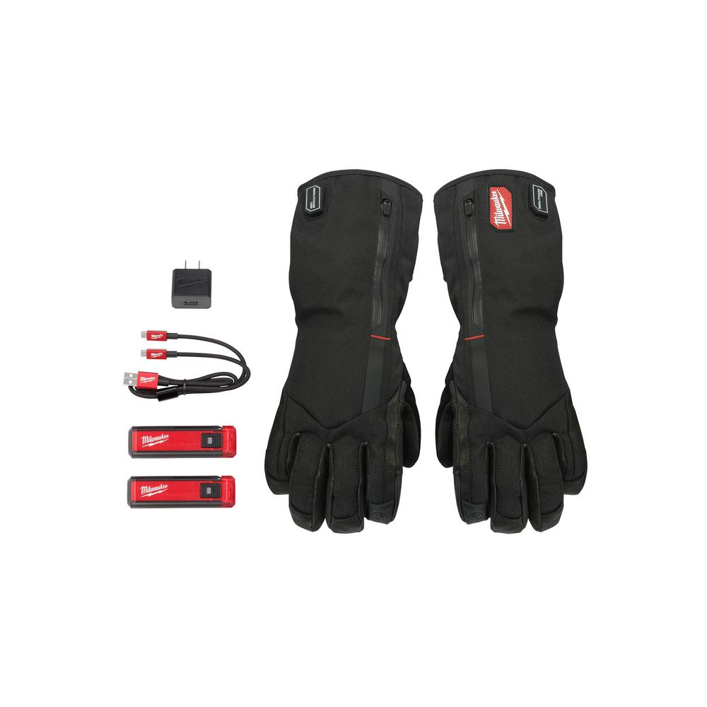 Milwaukee Milwaukee Medium Heated Gloves with Battery and Charger, Adult Unisex, Black
