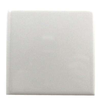 Semi-Gloss White 6 in. x 6 in. Ceramic Bullnose Wall Tile