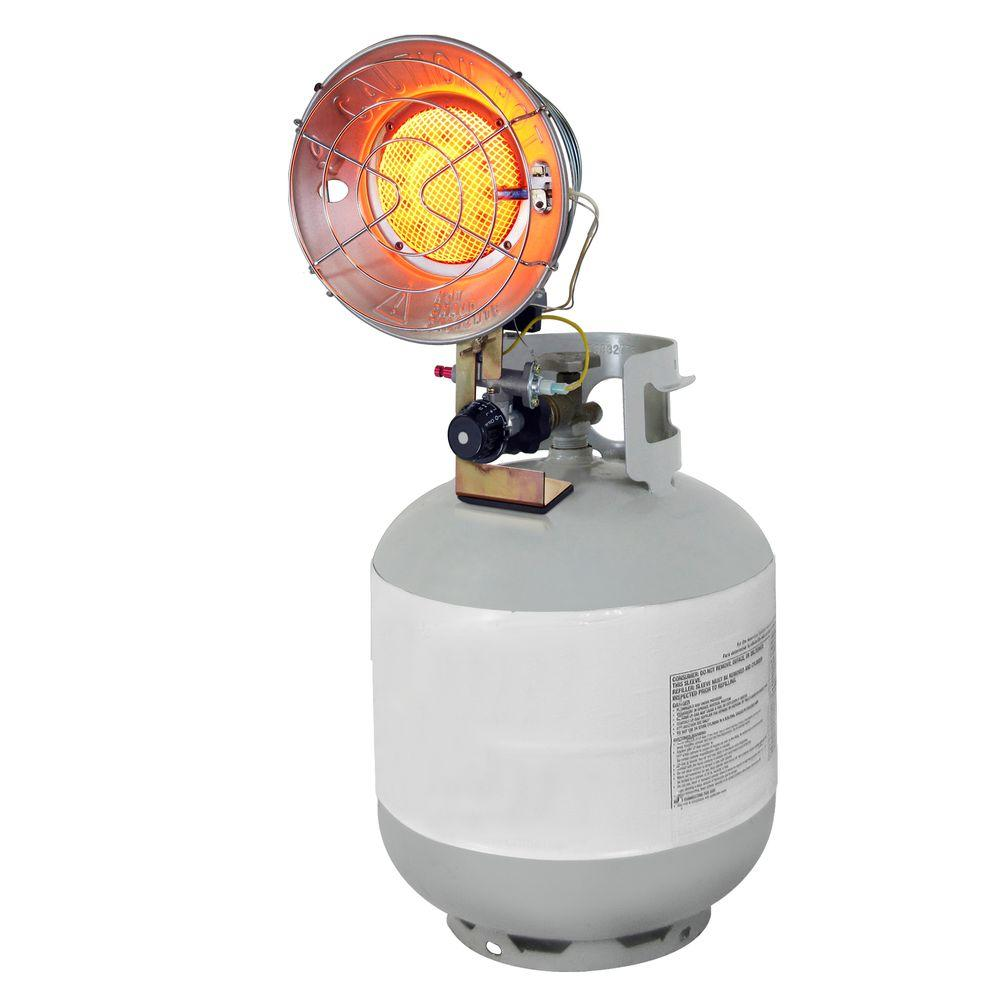 Propane Radiant Heater >> Dyna Glo Single Burner 15 000 Btu Radiant Tank Top Propane Portable Heater
