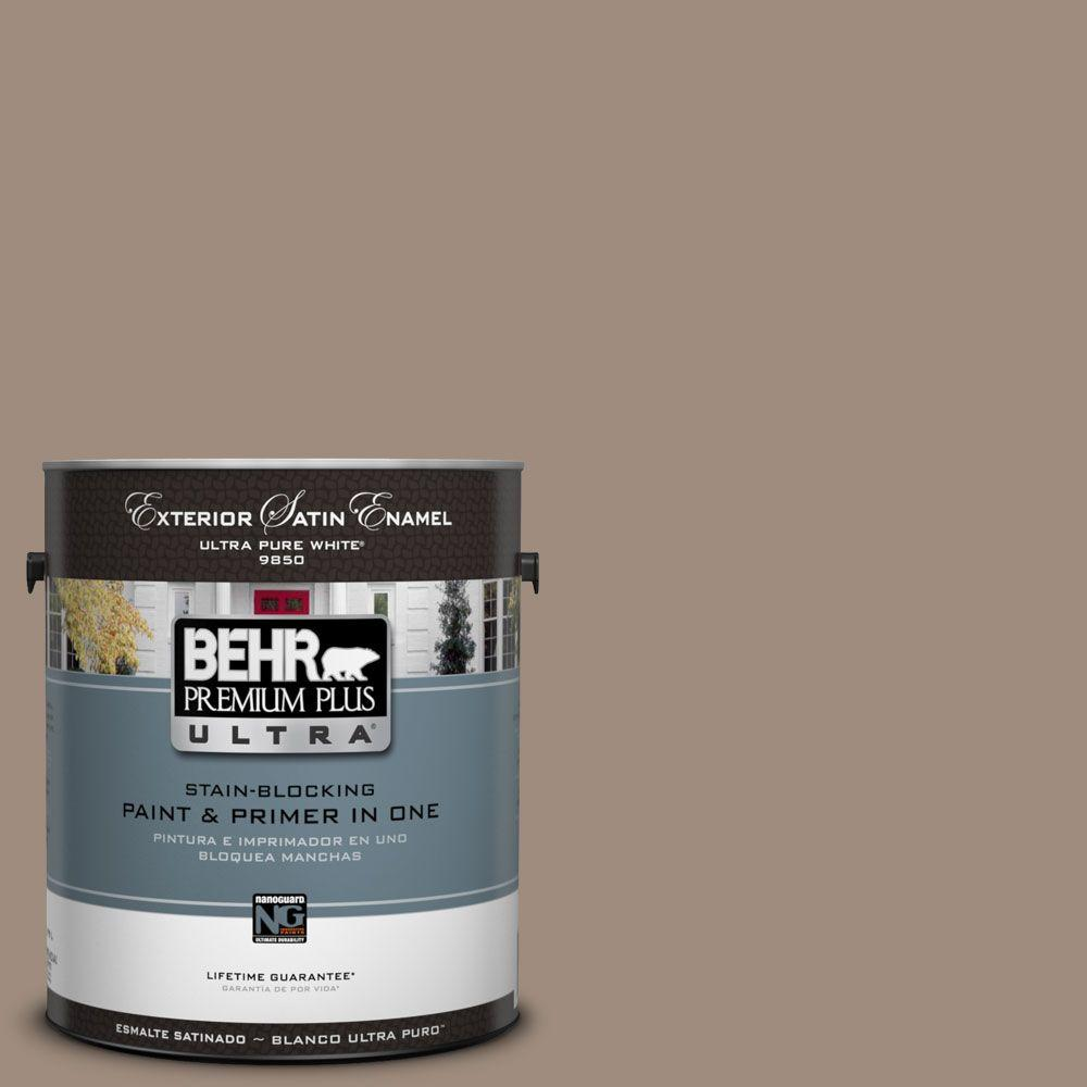 BEHR Premium Plus Ultra 1-Gal. #UL140-6 Antique Leather Satin Enamel Exterior Paint
