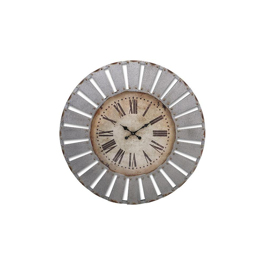 Firstime 27 in multi color oversized timberworks wall clock 31016 round wall clock amipublicfo Image collections
