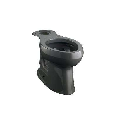 Highline Comfort Height Elongated Toilet Bowl Only in Black Black