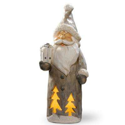17 in. Lighted Santa Decor Piece