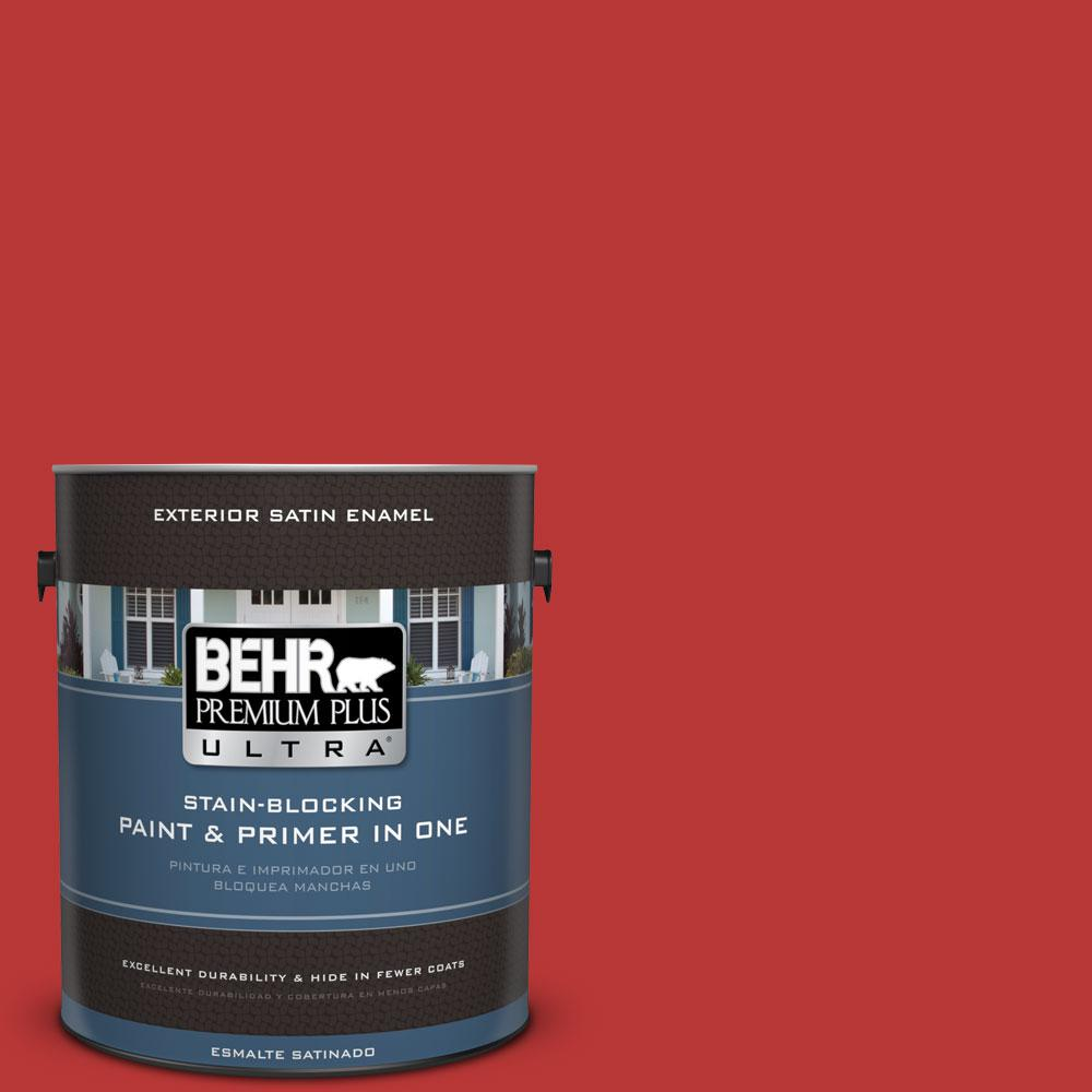 BEHR Premium Plus Ultra 1-gal. #S-G-170 Licorice Stick Satin Enamel Exterior Paint
