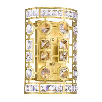 Belinda 8 in. Champagne Sconce with Clear Crystals