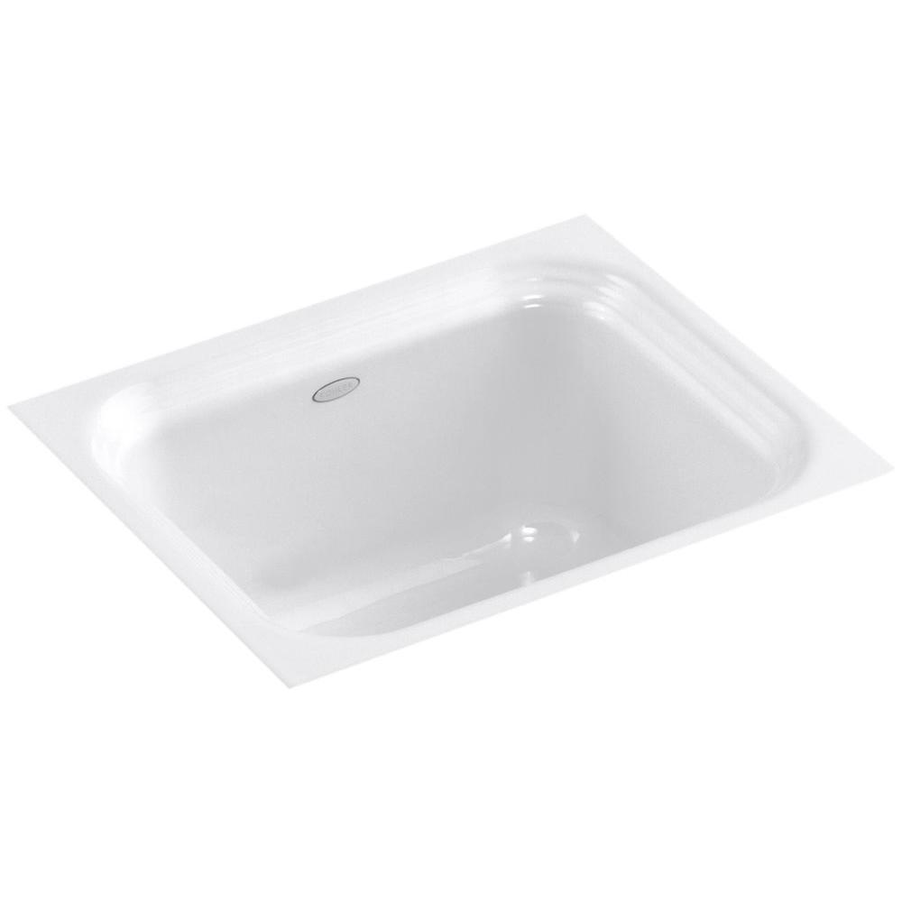 KOHLER Northland Undermount Cast Iron 15 in. Single Bowl Bar Sink in White